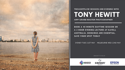 Thoughtflow Sessions & an Evening with Grand Master Photographer, Tony Hewitt at Kayell Australia